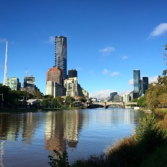Running along the river in Melbourne is brilliant