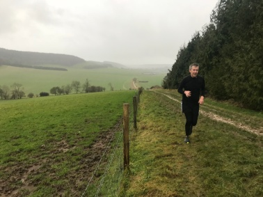 New Years day with Mike, back out on the hills