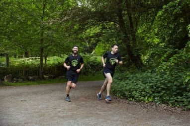Running away from Dai at Wild Trail Runners hills session