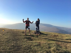 Jumping for Joy in the Brecons