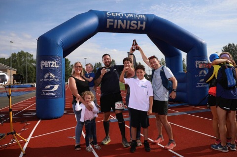 Celebrating Ged Completing the NDW100 with his family